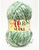 Ovillo Lana Maxi Multicolor Verde claro y Blanco