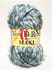 Ovillo Lana Maxi Multicolor Azul Claro y Blanco