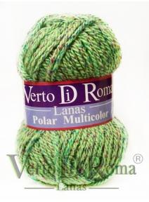 Ovillo Lana Polar Verdes Moteado