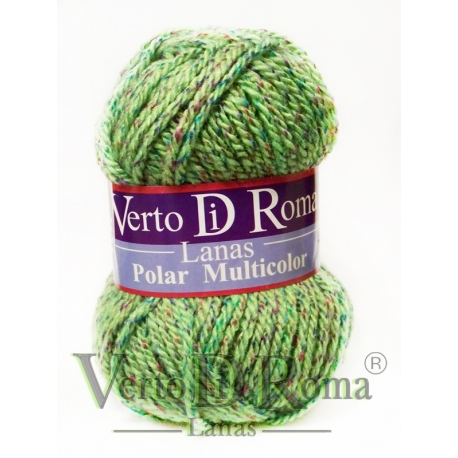 Ovillo Lana Polar Multicolor Verdes y Amarillo