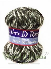 Ovillo Lana Polar Multicolor Grises