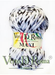 Ovillo Lana Maxi Multicolor Blanco y Negro