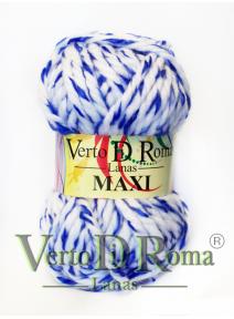 Ovillo Lana Maxi Multicolor Blanco y Azul