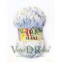 Ovillo Lana Maxi Multicolor Blanco y Gris