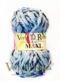Ovillo Lana Maxi Multicolor Azul Claro y Oscuro