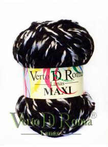 Ovillo Lana Maxi Multicolor Negro