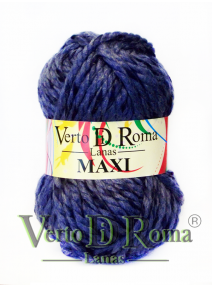Ovillo Lana Maxi Multicolor Azul y Negro