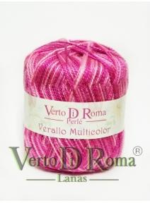 Hilo Perlé Verallo Multicolor en colores Rosas