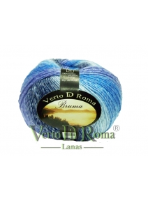 Ovillo Lana Polar Multicolor Azul Turquesa Moteado