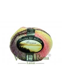 Ovillo Lana Bruma Multicolor en Rosas y Amarillos