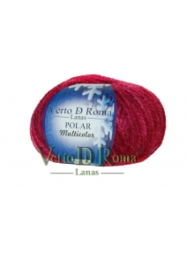 Ovillo Lana Polar Multicolor Rojo