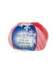 Ovillo Lana Polar Multicolor Rosa Claro
