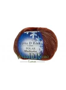 Ovillo Lana Polar Multicolor Marron Chocolate