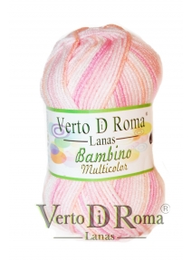 Ovillo Lana Bambino Multicolor Rosa