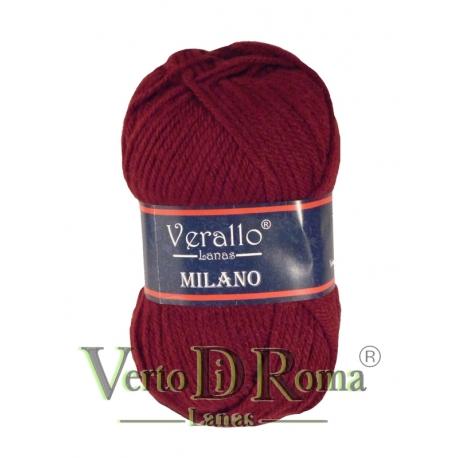 Ovillo Lana Verallo Milano Rojo Teja