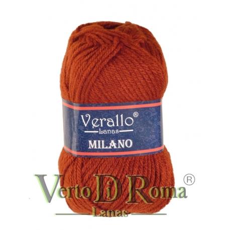 Ovillo Lana Verallo Milano Rojo Oxido