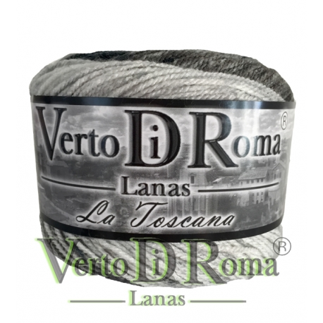 Ovillo Lana Toscana Matizado Negro