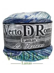 Ovillo Lana Toscana Matizado Azul