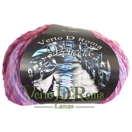 Ovillo Lana Venecia Multicolor Rosas
