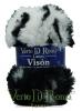 Ovillo Lana Vison Multicolor Blanco y Negro