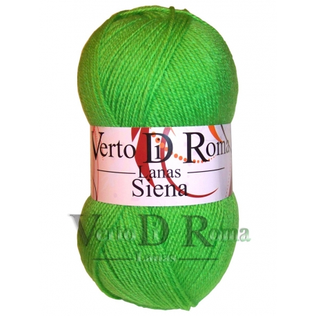 Ovillo Lana Siena Verde Brillante