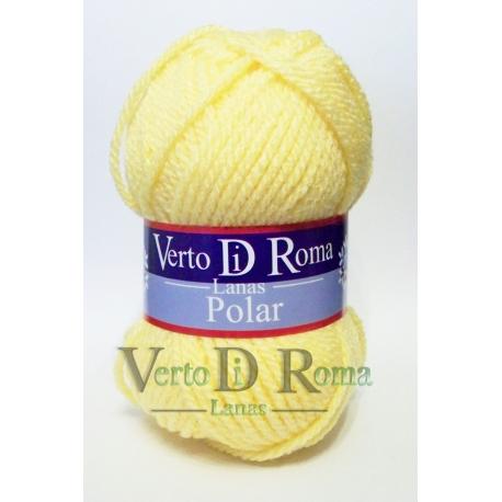 Ovillo Lana Polar Amarilla Clara