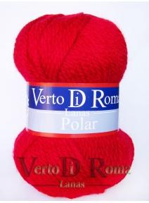 Ovillo Lana Polar Rojo