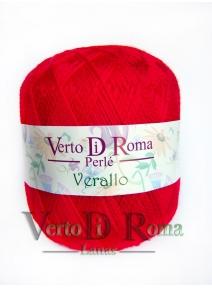 Hilo Perlé Verallo Rojo Brillante