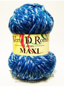 Ovillo Lana Maxi Multicolor Azul Claro